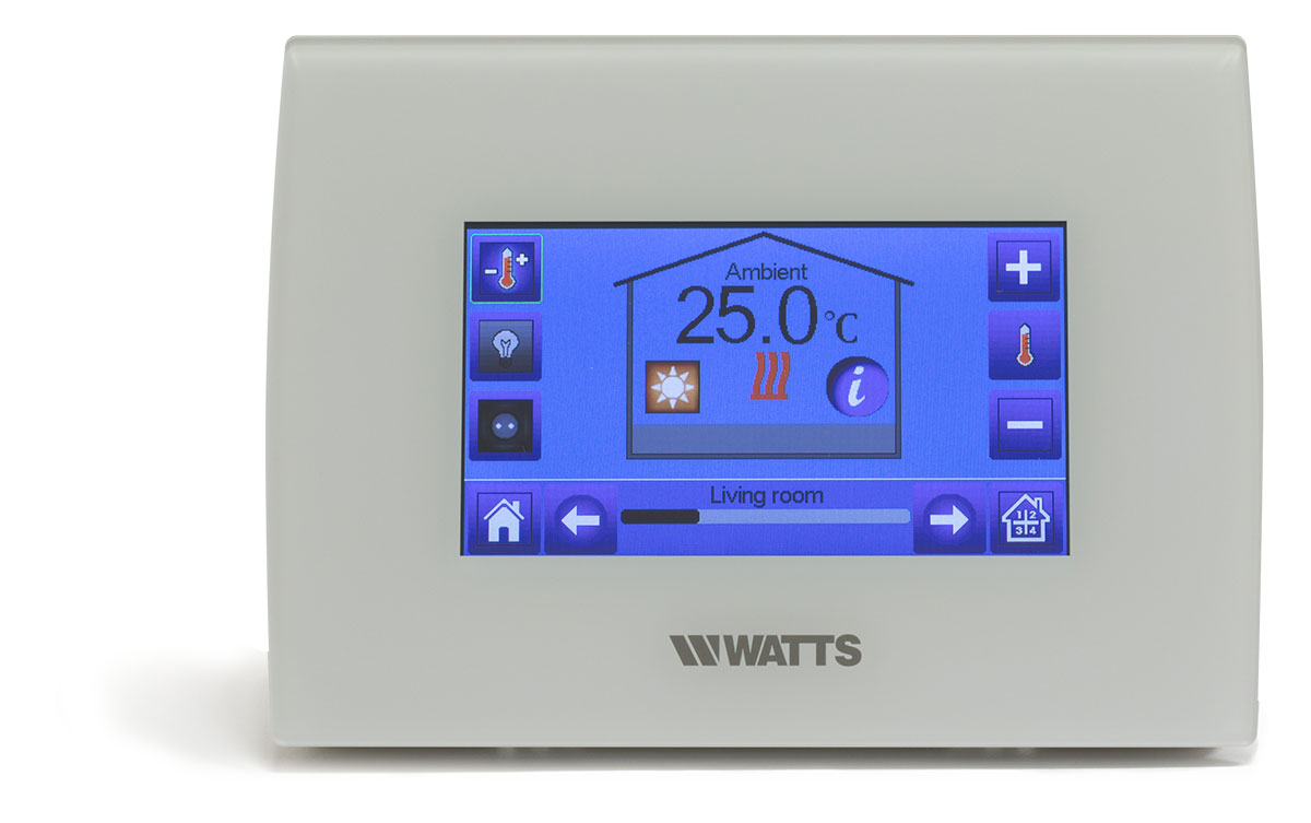 Centrale Touchscreen Unit wit met WIFI