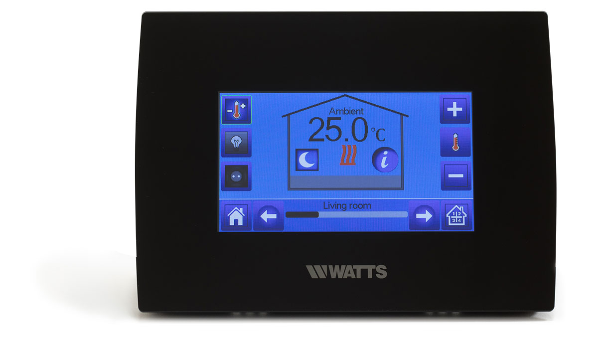 Centrale Touchscreen Unit zwart met WIFI